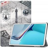 Чехол для Huawei MatePad 11 с рисунком Eiffel Tower полиуретановый