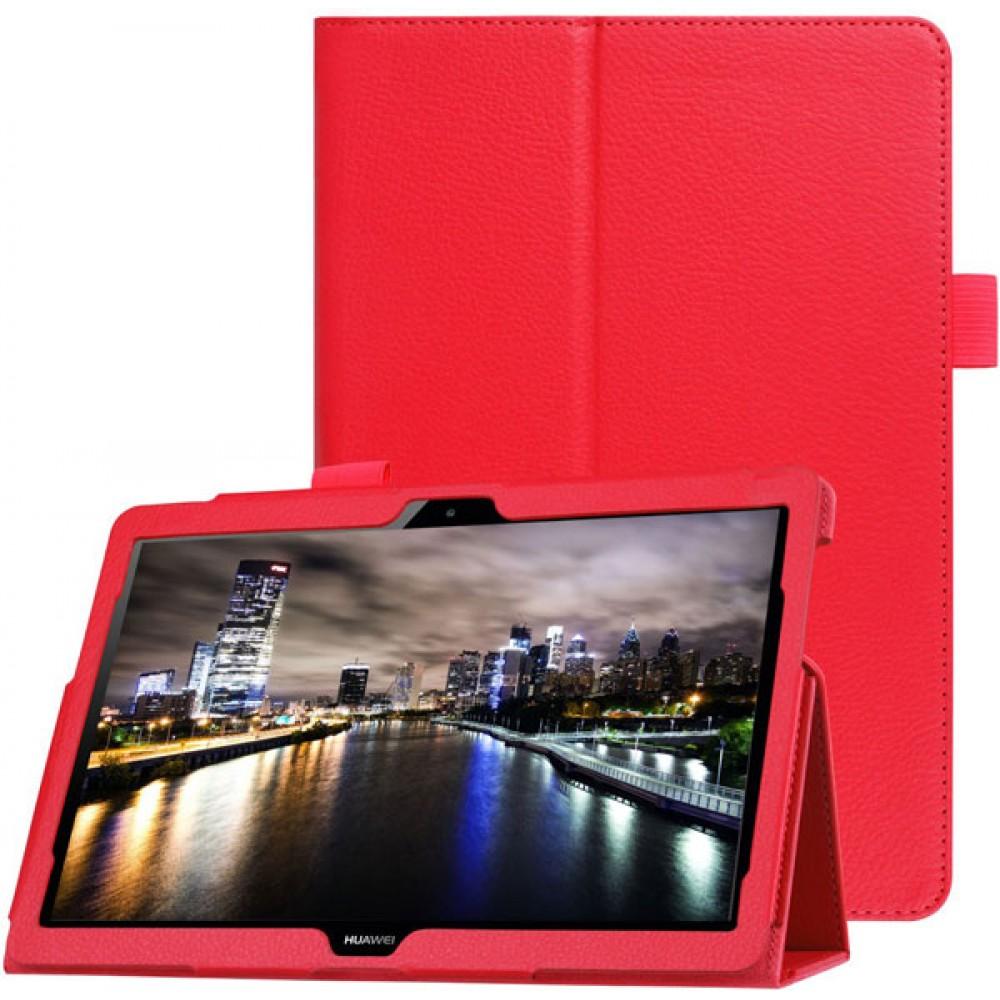 Чехол для Huawei MediaPad T3 10 красный кожаный