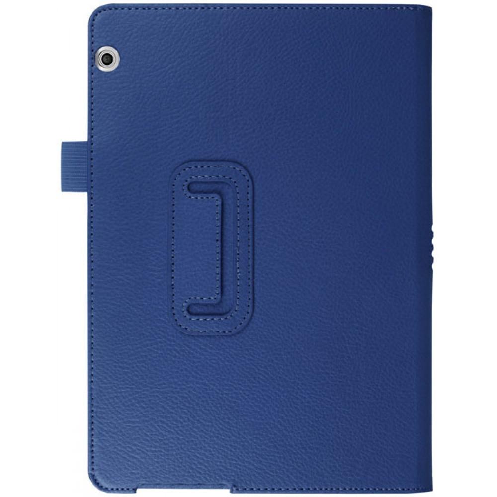 Чехол для Huawei MediaPad T3 10 синий кожаный