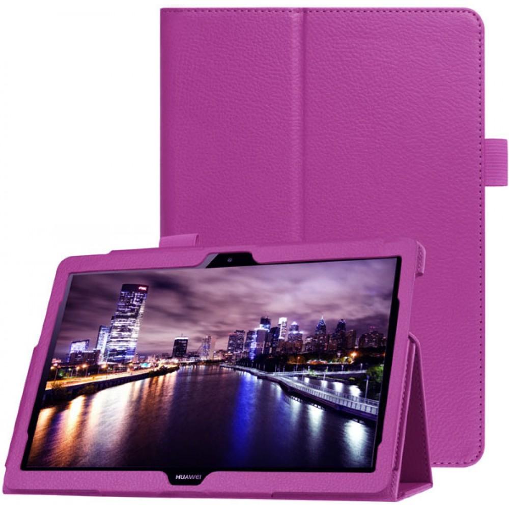 Чехол для Huawei MediaPad T5 10 кожаный фиолетовый