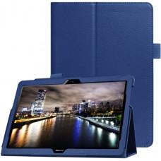 Чехол для Huawei MediaPad T5 10 кожаный синий