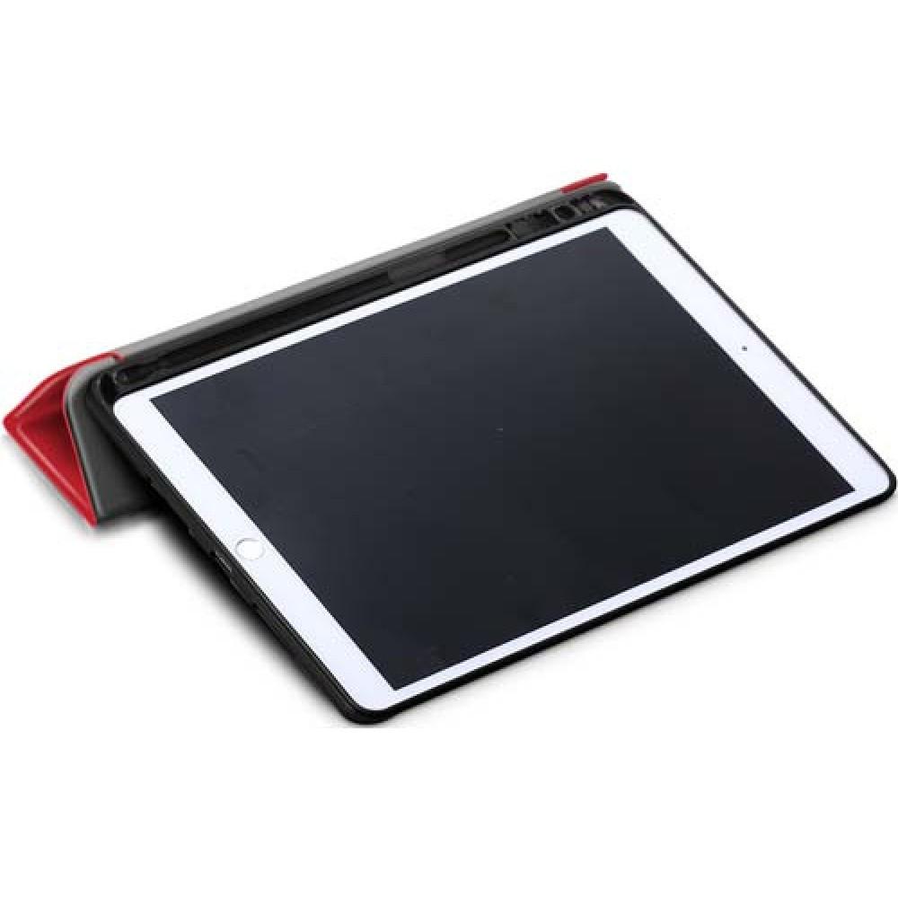 Чехол для iPad 10.2 2019 / 2020 с креплением под стилус красный