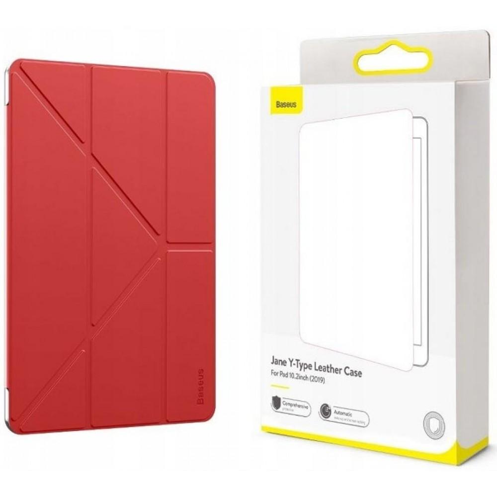 Чехол для iPad 10.2 2019 / 2020 Baseus Jane Y-Type Leather Case LTAPIPD-G09 Red