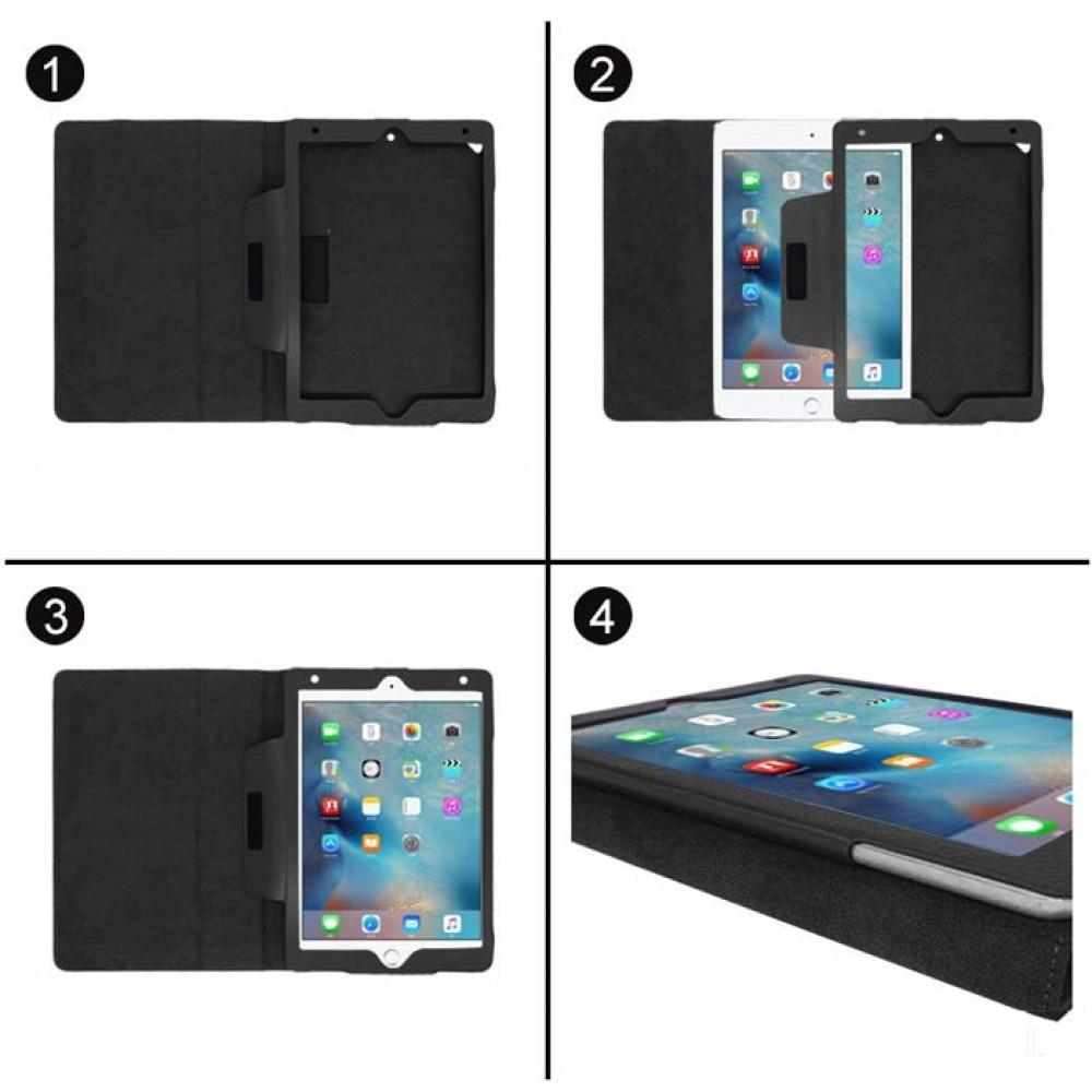 Чехол для iPad 10.2 2019 черный кожаный