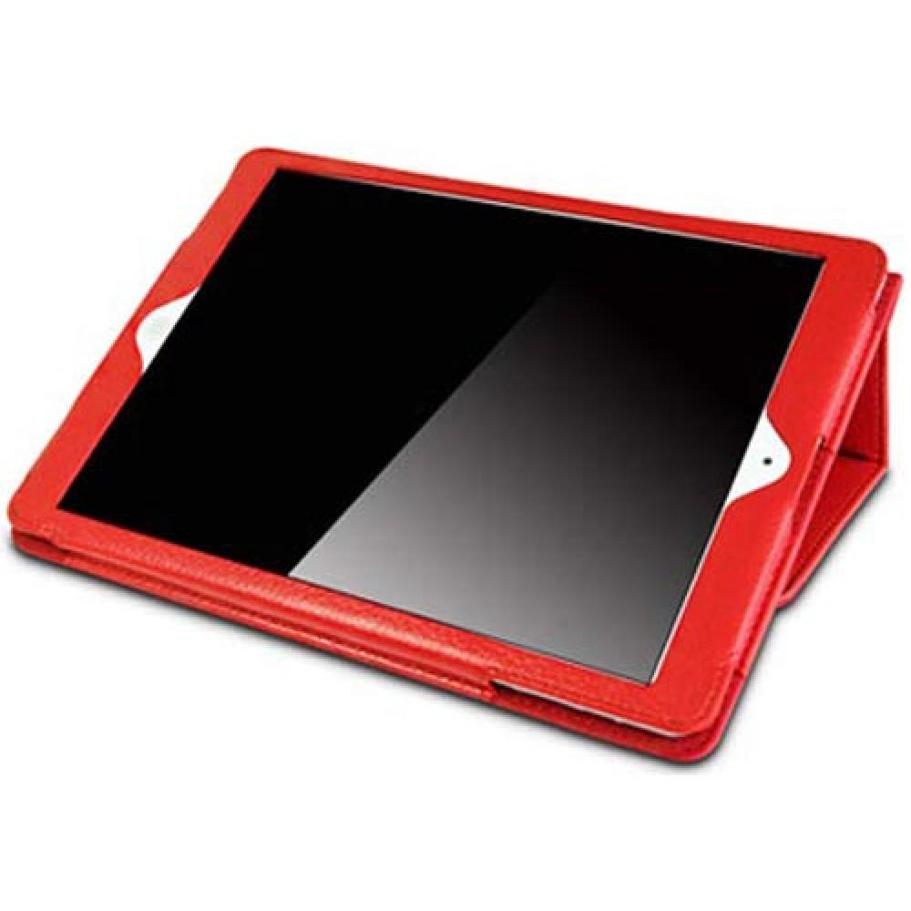 Чехол для iPad 10.2 2019 красный кожаный