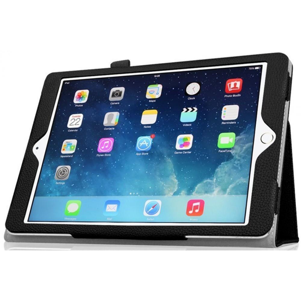 Чехол для Apple iPad 9.7 2018 кожаный черный