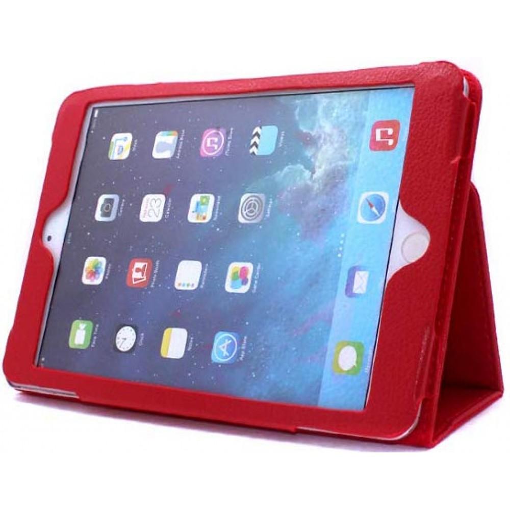 Чехол для iPad Mini 5 2019 кожаный красный