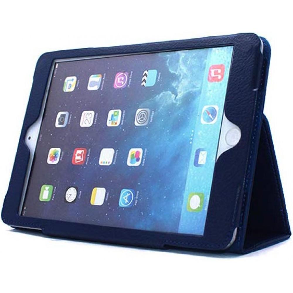 Чехол для iPad Mini 5 2019 кожаный темно-синий