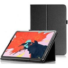 Чехол для iPad Pro 12.9 2018 черный кожаный
