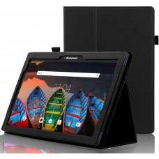 Чехол для Lenovo Tab 10 TB-X103F черный кожаный