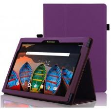 Чехол для Lenovo Tab 10 TB-X103F фиолетовый кожаный