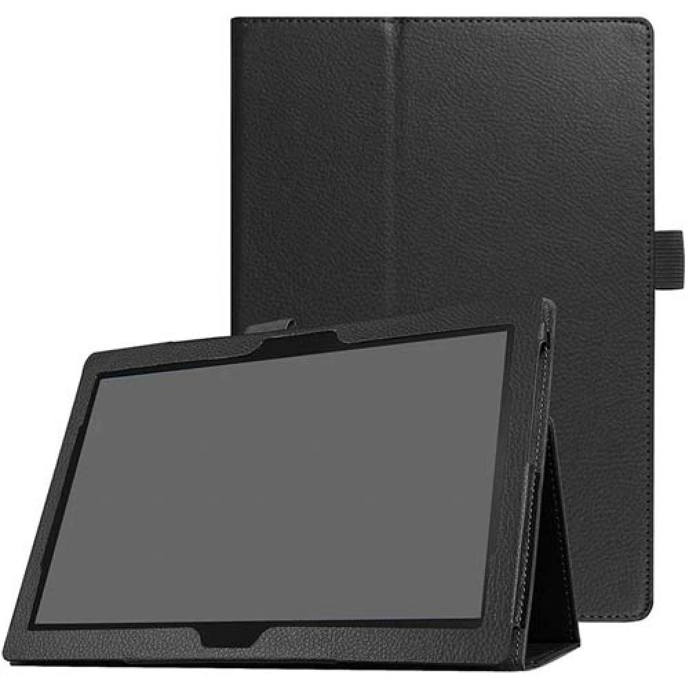 Чехол для Lenovo Tab M10 TB-X605 / TB-X505 черный кожаный