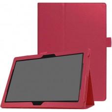 Чехол для Lenovo Tab M10 TB-X605 / TB-X505 красный кожаный
