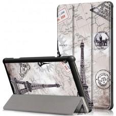 Чехол для Lenovo Tab M10 TB-X605L / TB-X605F с рисунком Eiffel tower