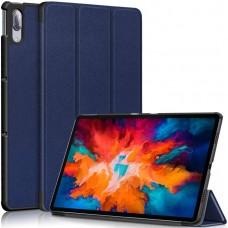 Чехол для Lenovo Tab P11 Pro полиуретановый темно-синий
