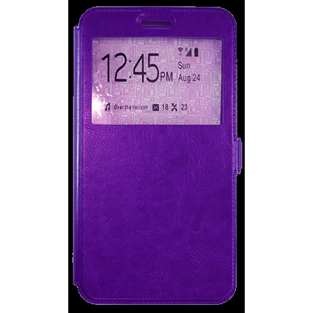Чехол для Lenovo Phab Plus фиолетовый кожаный