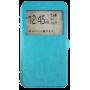 Чехол для Lenovo Phab Plus голубой кожаный