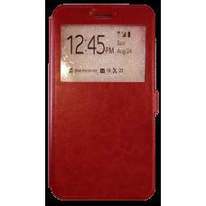 Чехол для Lenovo Phab Plus красный кожаный
