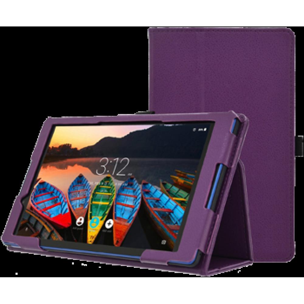 Чехол для Lenovo Tab 3 TB3-850 кожаный фиолетовый