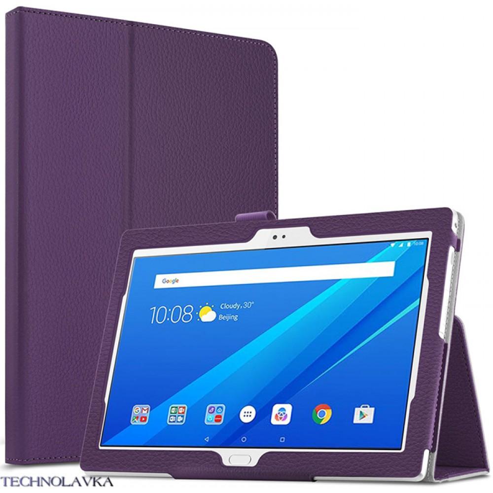 Чехол для Lenovo Tab 4 10 Plus TB-X704 фиолетовый кожаный