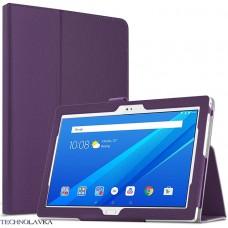 Чехол для Lenovo Tab 4 10 TB-X304L фиолетовый кожаный