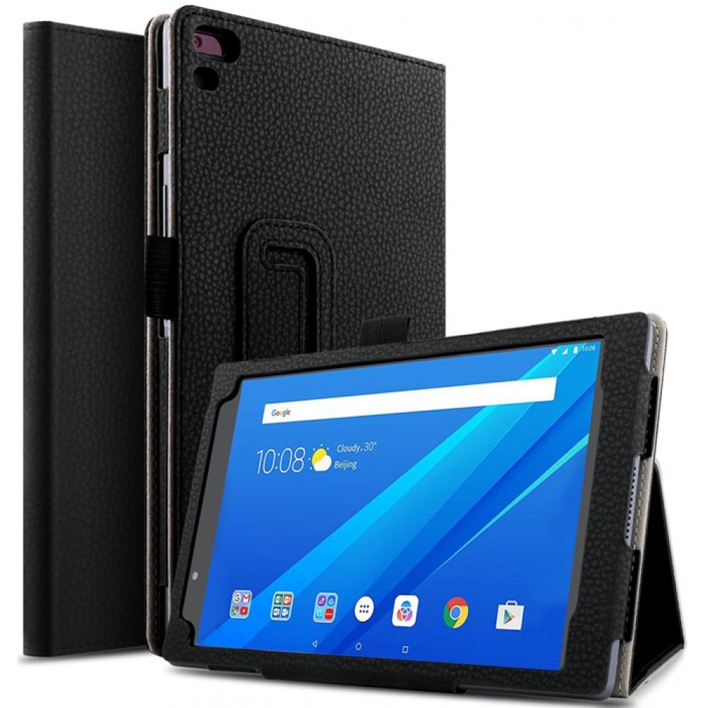 Чехол для Lenovo Tab 4 8 Plus черный кожаный
