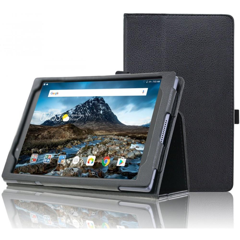 Чехол для Lenovo Tab 4 8 TB-8504 черный кожаный