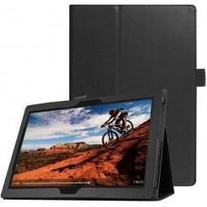 Чехол для Lenovo Tab E10 TB-X104 черный кожаный