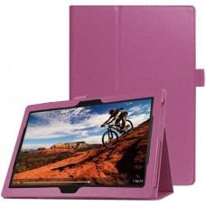 Чехол для Lenovo Tab E10 TB-X104 фиолетовый кожаный