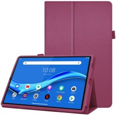 Чехол для Lenovo Tab M10 Plus TB-X606 фиолетовый кожаный