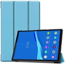 Чехол для Lenovo Tab M10 Plus TB-X606 голубой полиуретановый
