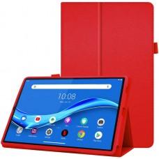 Чехол для Lenovo Tab M10 Plus TB-X606 красный кожаный