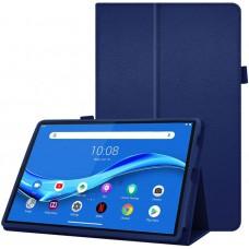 Чехол для Lenovo Tab M10 Plus TB-X606 синий кожаный