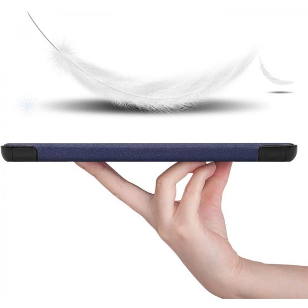 Чехол для Lenovo Tab M10 Plus TB-X606 темно-синий полиуретановый