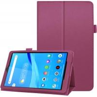 Чехол для Lenovo Tab M8 кожаный фиолетовый