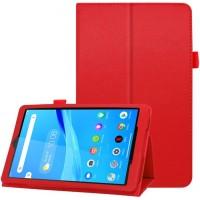 Чехол для Lenovo Tab M8 кожаный красный