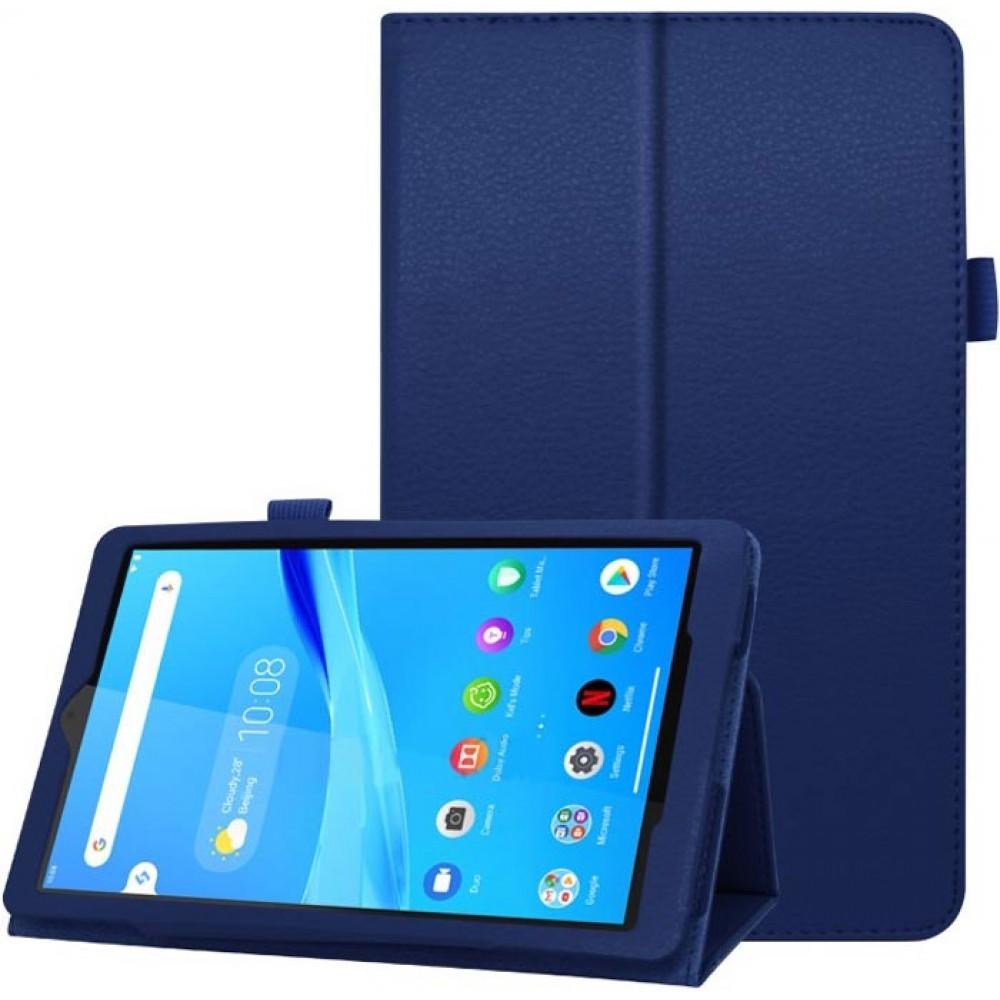 Чехол для Lenovo Tab M8 кожаный темно-синий