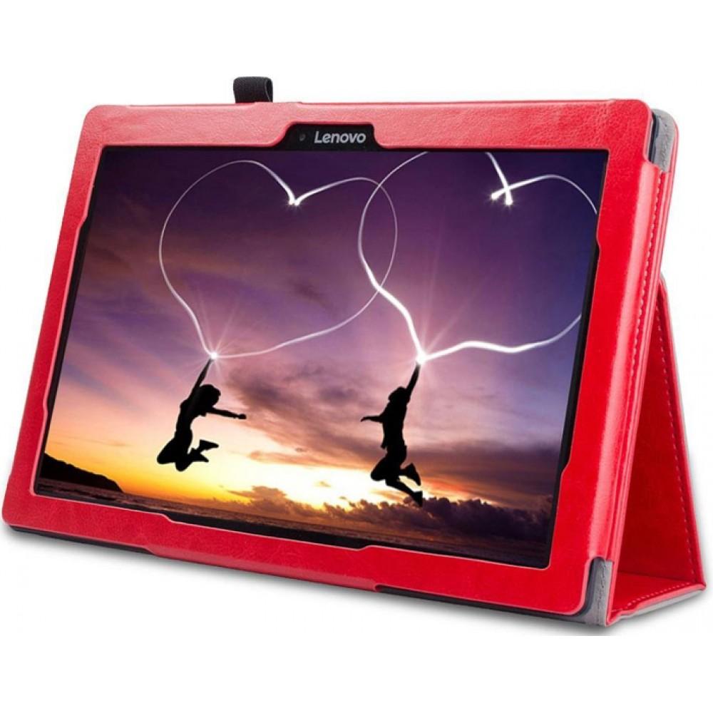 Чехол для Lenovo Tab 2 A10-70 красный кожаный