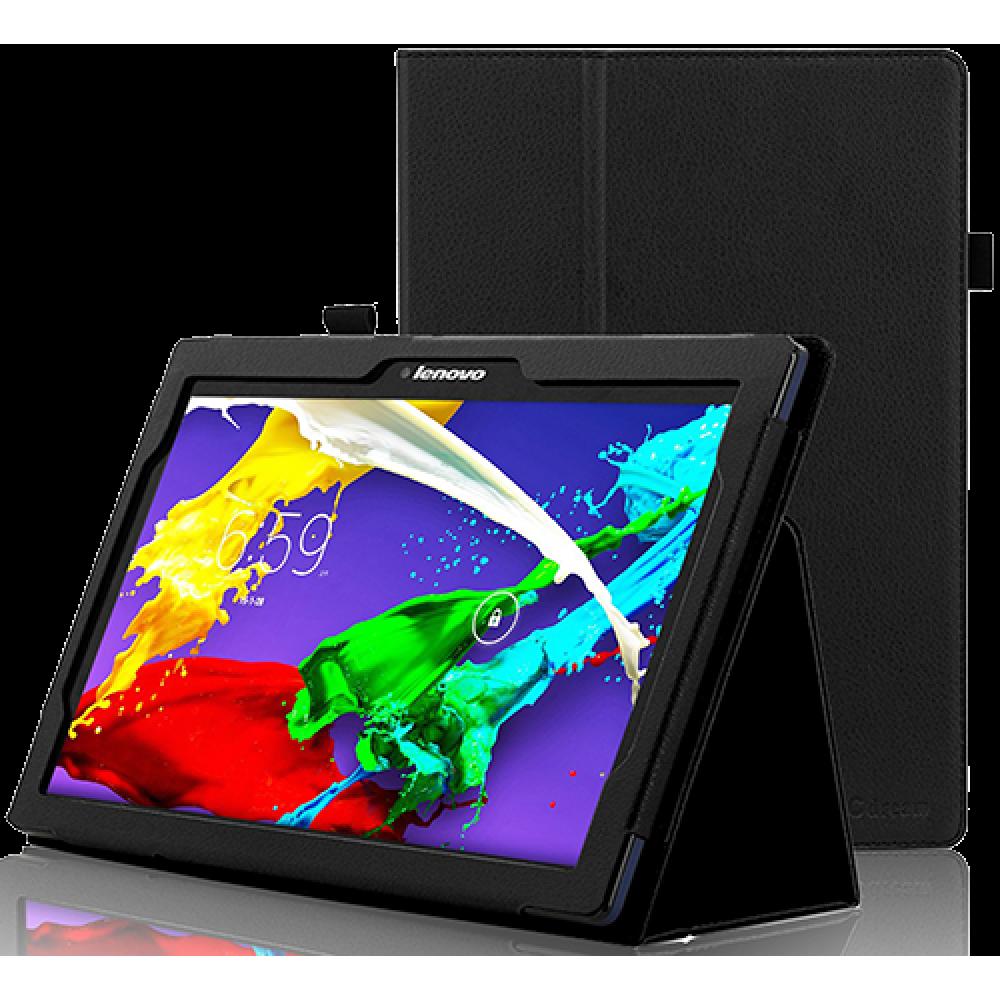 Чехол для Lenovo Tab 3 Business TB3-X70L кожаный черный