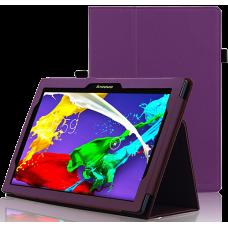 Чехол для Lenovo Tab 3 10 Business X70 кожаный фиолетовый