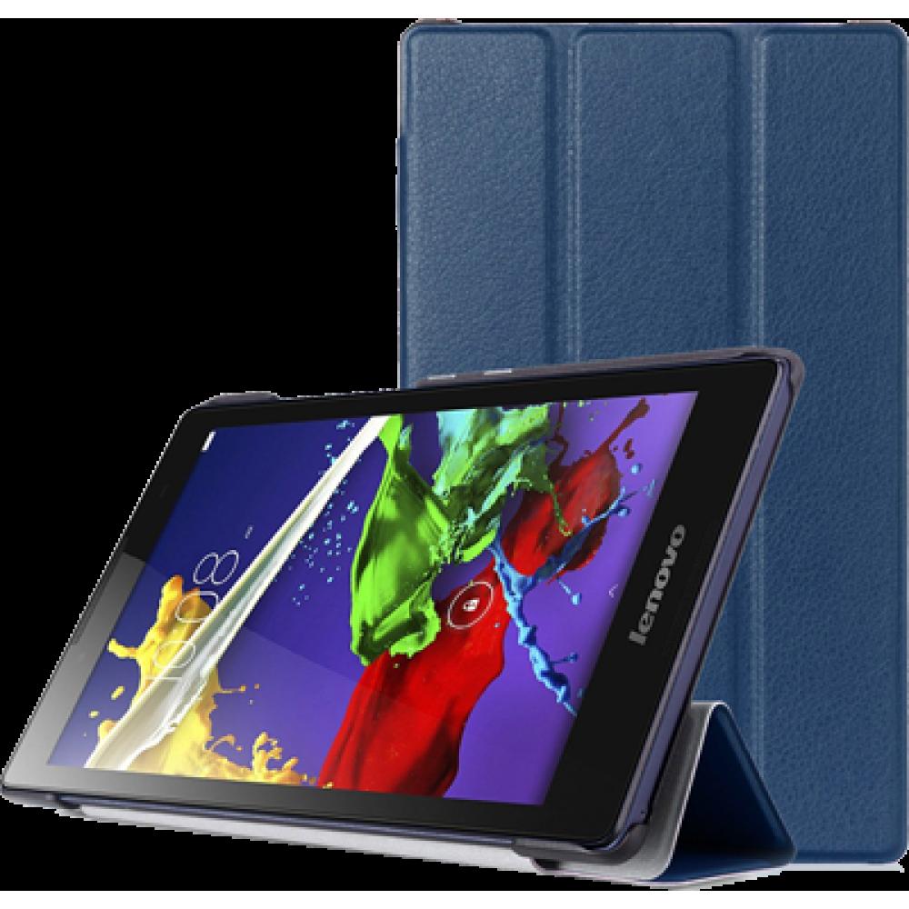 Чехол для Lenovo Tab 3 A8-50 темно-синий