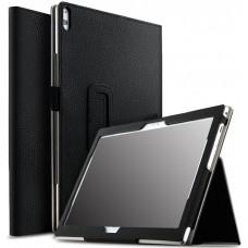 Чехол для Lenovo Tab 4 10 Plus TB-X704 черный кожаный
