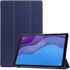 Чехол для Lenovo Tab M10 HD TB-X306 темно-синий полиуретановый
