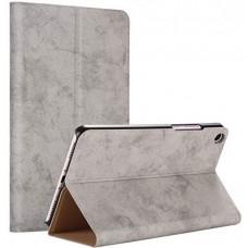 Чехол для Xiaomi Mi Pad 4 серый кожаный