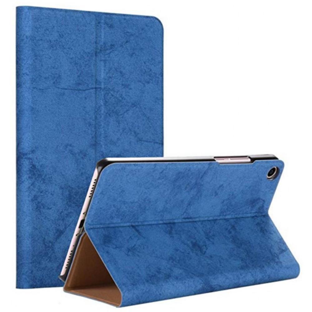 Чехол для Xiaomi Mi Pad 4 синий кожаный