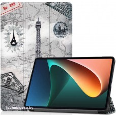 Чехол для Xiaomi Mi Pad 5 / Mi Pad 5 Pro с рисунком Эйфелева Башня