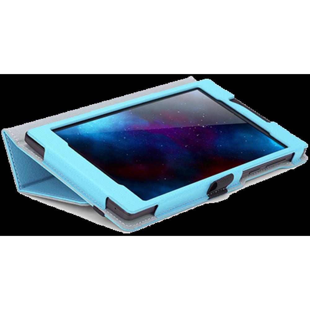 Чехол для планшета Lenovo IdeaTab 2 A7-30 голубой кожаный