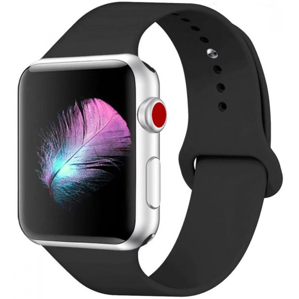 Ремешок для Apple Watch Series 4/3/2/1 44-42 мм черный силиконовый
