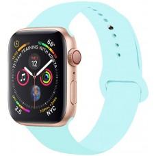 Ремешок для Apple Watch Series 4/3/2/1 44-42 мм голубой силиконовый