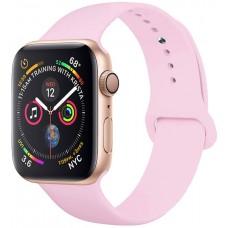 Ремешок для Apple Watch Series 4/3/2/1 44-42 мм розовый силиконовый